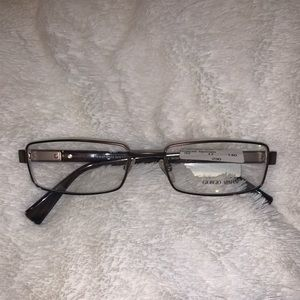 Giorgio Armani Brown Wire Frame Eyeglasses